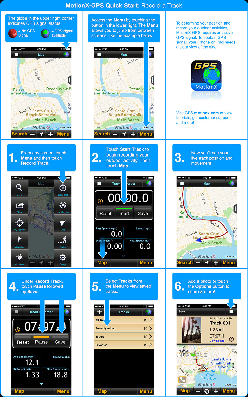 MotionX-GPS Quickstart Guide (for iPhone)