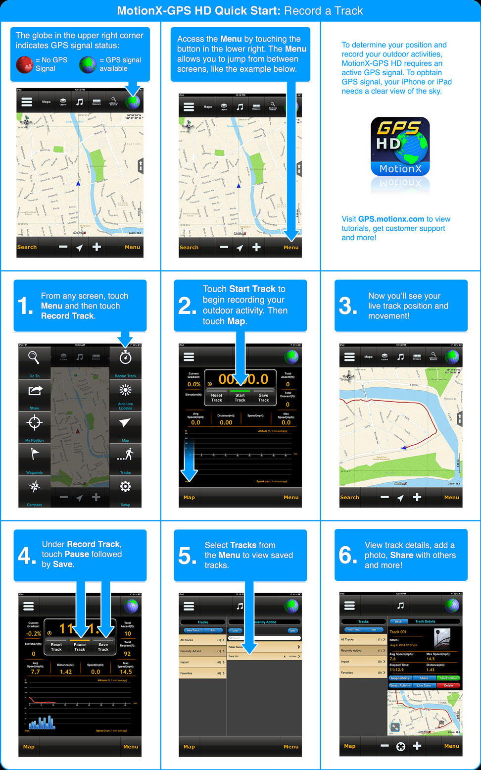 MotionX-GPS HD Quickstart Guide (for iPad)